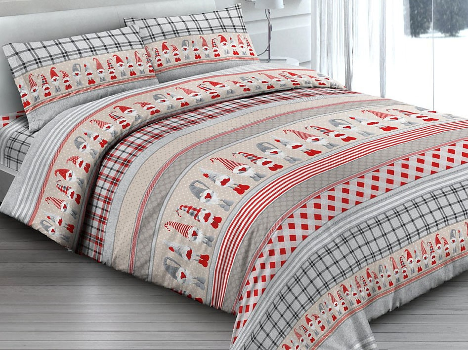 Gipetex Natural Dream Italské povlečení 100% bavlna Folletti - 140x200 / 70x90 cm