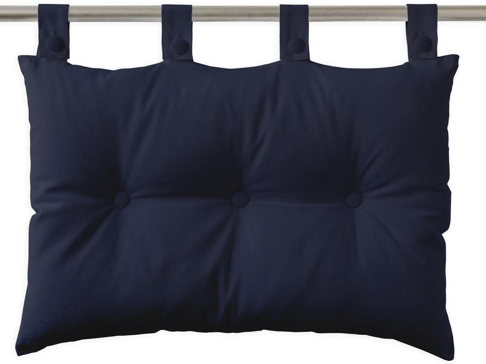 TODAY Závěsný polštář k posteli 70x45 cm Ciel d'orage - tm. modrá