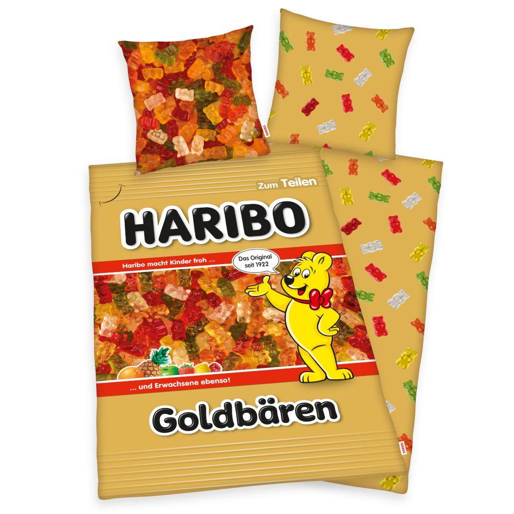 Herding povlečení Haribo Goldbären - medvídci 140x200/70x90cm