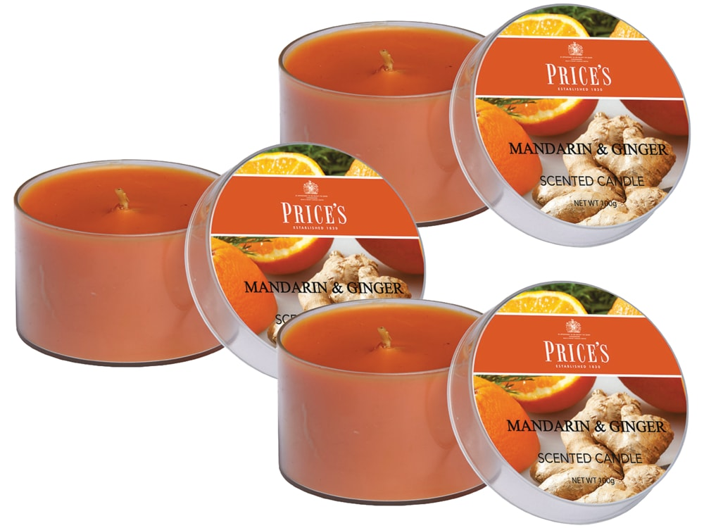 Price´s FRAGRANCE vonné svíčky Mandarinka & Zázvor 3ks - hoření 25h
