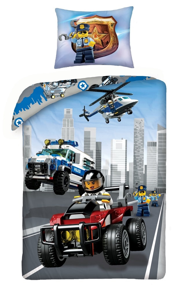 Halantex povlečení Lego Policie 824BL 140x200/70x90cm