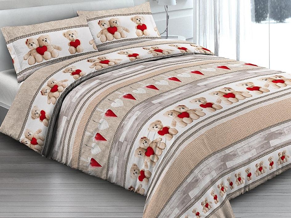 Gipetex Natural Dream Italské povlečení 100% bavlna Orsetti - 140x200 / 70x90 cm