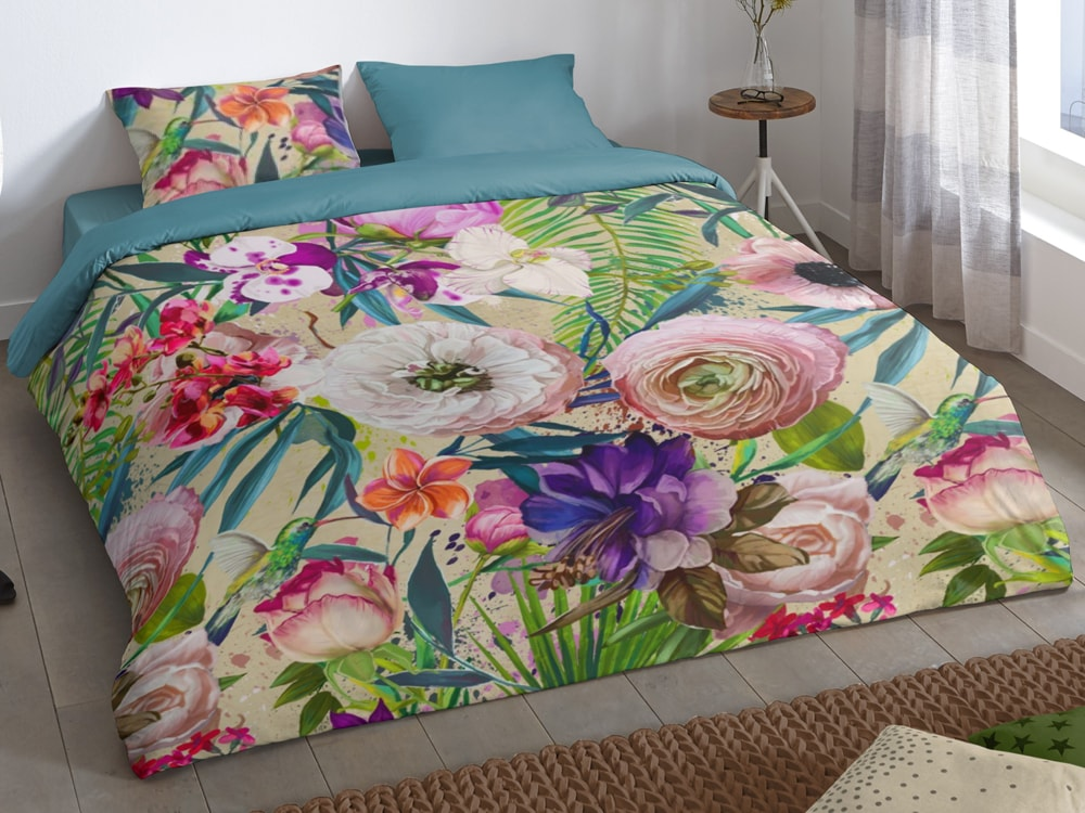 Good Morning Povlečení Good Morning 100% bavlna Tropical 140x200/70x90 cm
