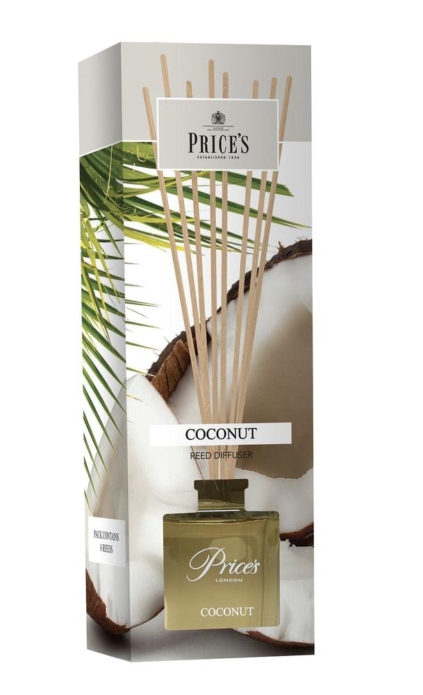 Price´s FRAGRANCE vonný difuzér Exotický kokos 100ml