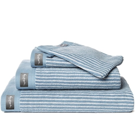 Vandyck Ručník Home Petit Ligne Faded denim - modrá