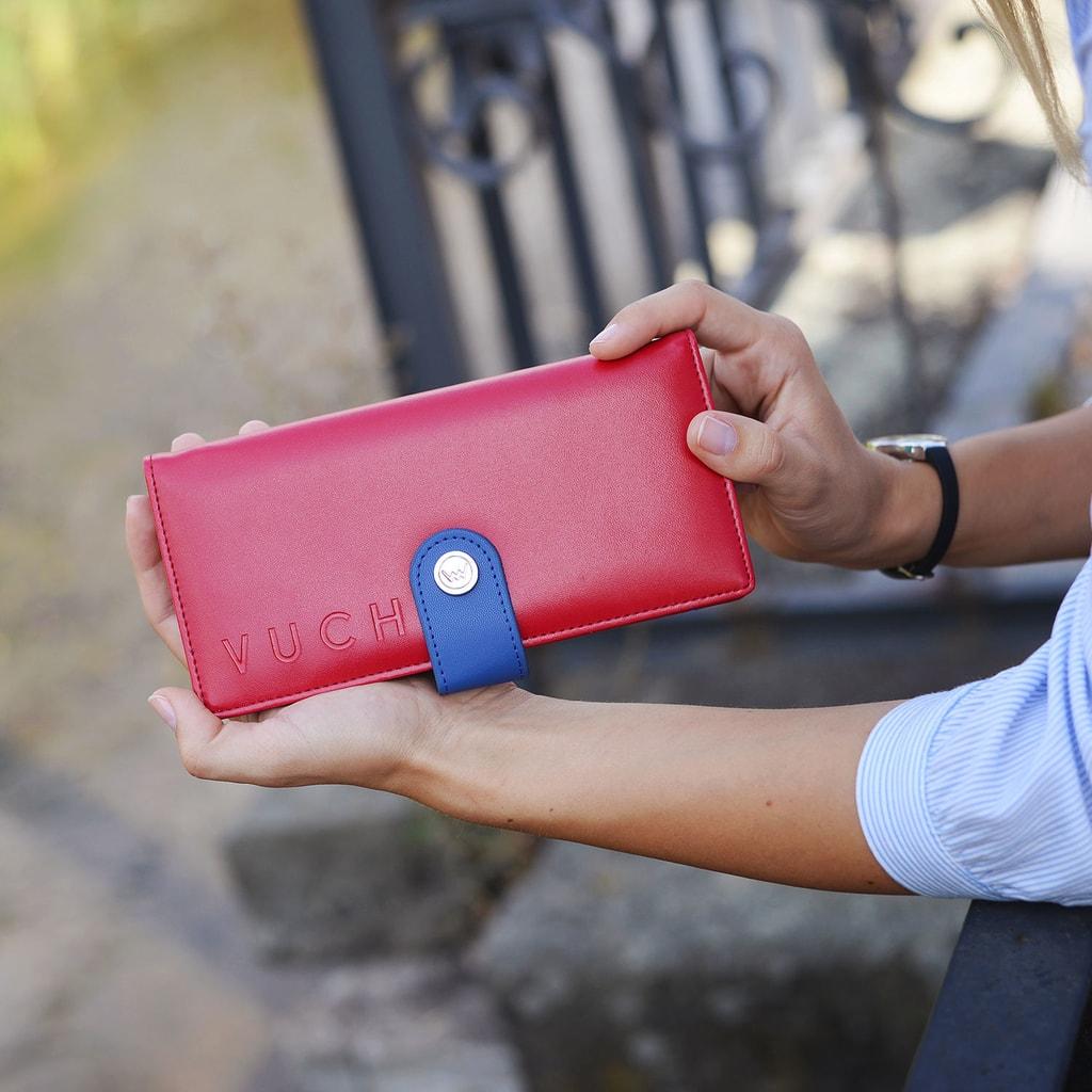 e745d1dca6aee Vuch - Czerwony portfel damski ze skóry ekologicznej TULI