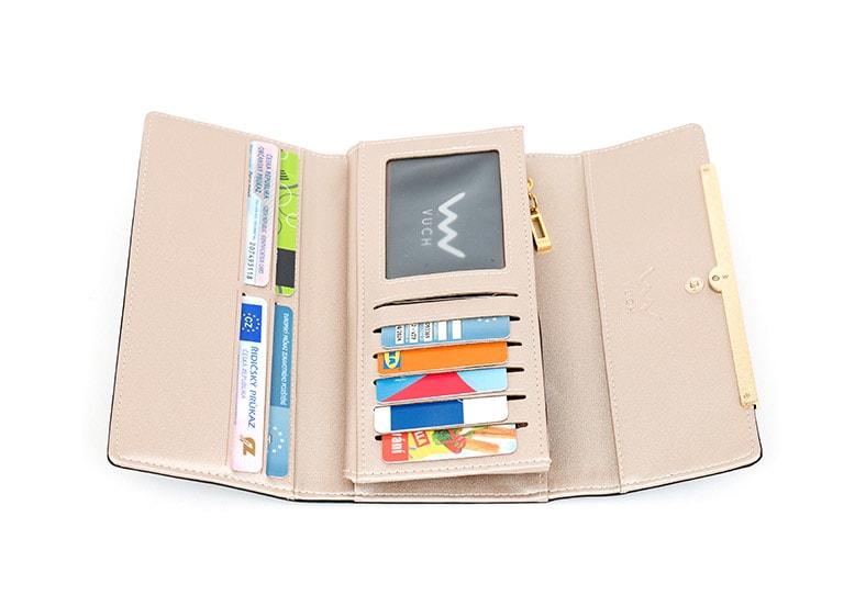 4b8ee3e63514a Vuch - Czarny portfel damski ze skóry ekologicznej TRUSTEN