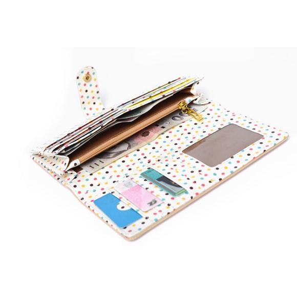 Różowy portfel damski ze skóry - Akcesoria portfel - sklep