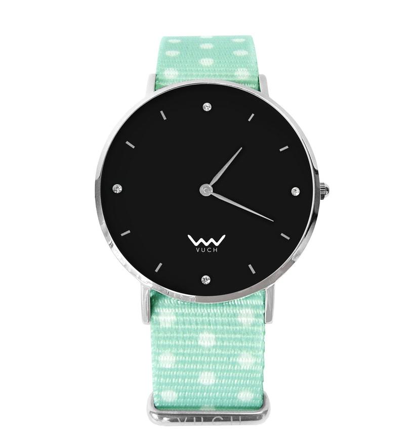 f02920e08706f Vuch - Damski zegarek z czarną tarczą oraz paskiem nylonowym VUCH ...