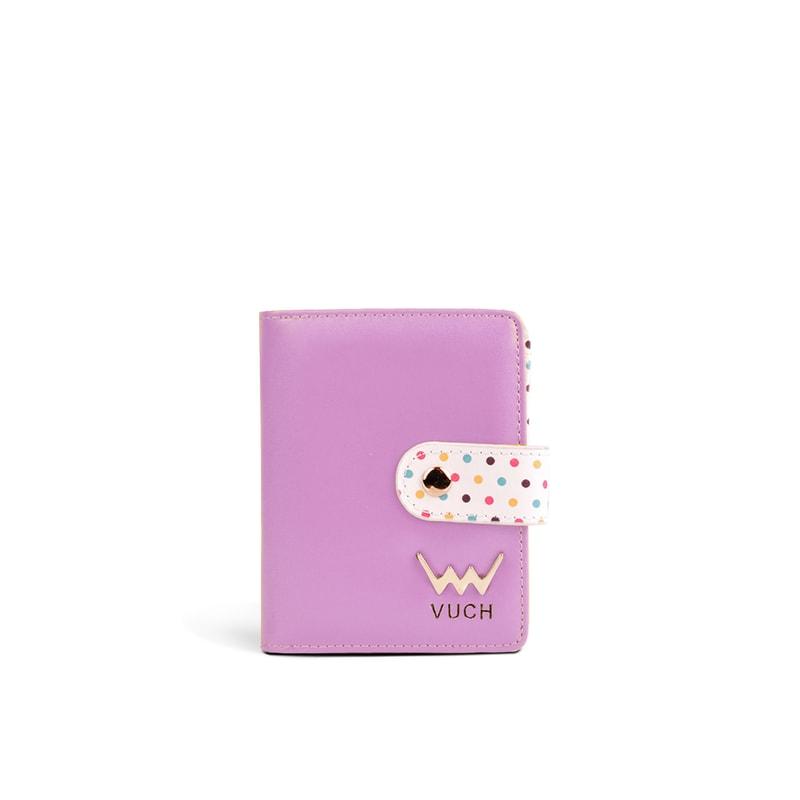 35963804353eb Vuch - Fioletowy portfel damski w kropki ze skóry ekologicznej VIOLET