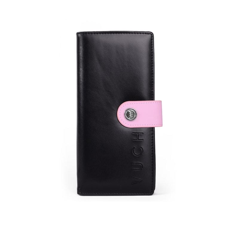 36224445e1b35 Vuch - Czarny portfel damski ze skóry ekologicznej CAMI