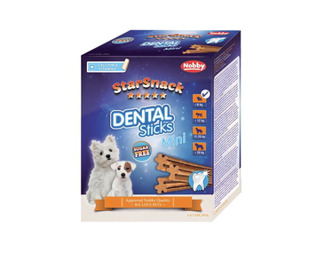 NOBBY STARSNACK DENTAL STICKS MINI DENTÁLNE MAŠKRTY 28KS / 252G