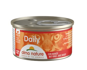 ALMO NATURE DAILY MENU WET CAT - KÚSKY S HOVÄDZÍM 85G
