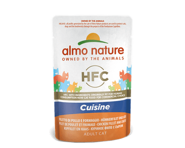 ALMO NATURE HFC CUISINE WET CAT -  KURACIE FILET A SYR 55G