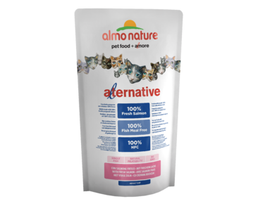 ALMO NATURE ALTERNATIVE DRY CAT - LOSOS A RYŽA 750G - ZĽAVA 50% VÝPREDAJ