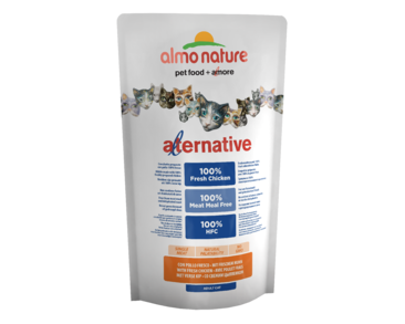 ALMO NATURE ALTERNATIVE DRY CAT -  KURA A RYŽA 750G -  ZĽAVA 20% VÝPREDAJ