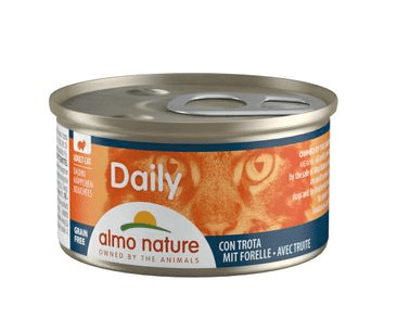 ALMO NATURE DAILY MENU WET CAT - KÚSKY SO PSTRUHOM 85G