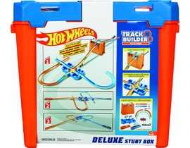 Hot Wheeels track builder box plný triků