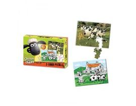 Shaun the Sheep - Oboustranné puzzle s pastelkami 50ks