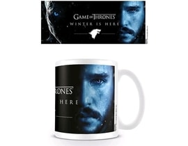 HRNEK KERAMICKÝ GAME OF THRONES315 ml/WINTER IS HERE/JON/BÍLÝ