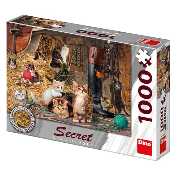 Dino KOČIČKY 1000 secret collection Puzzle NOVÉ