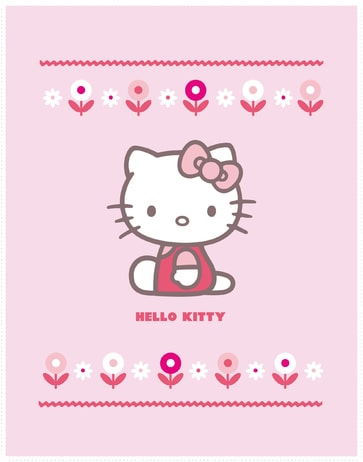 Fleece dečka Hello Kitty Caroline 110x140cm