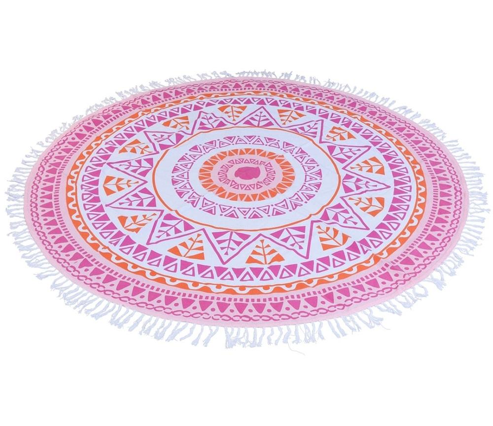 Home collection Kruhový přehoz průměr 150 cm růžová