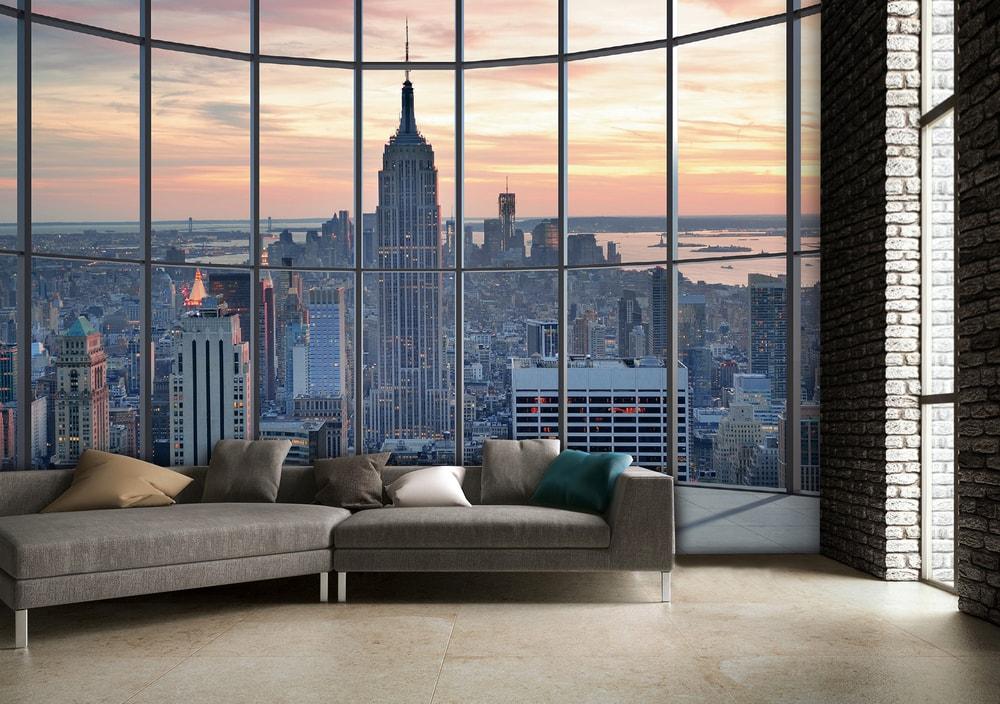 1Wall Vliesová fototapeta Výhľad na New York 366x253 cm