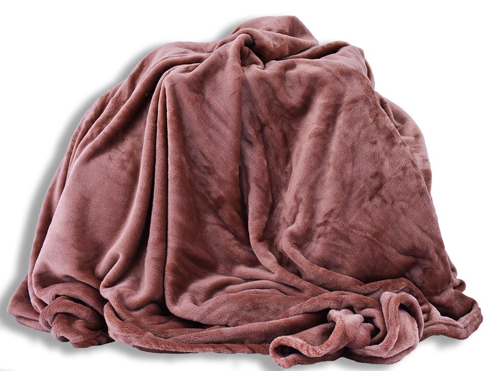 Homeville deka mikroplyš 150x200 cm světle hnědá