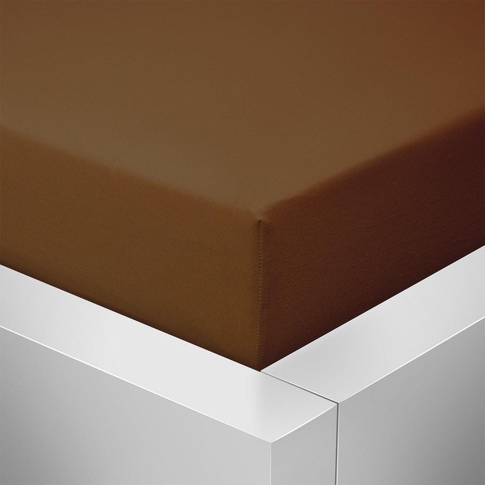 Homeville jersey prostěradlo české výroby čokoláda 30cm výška - 180x200 cm