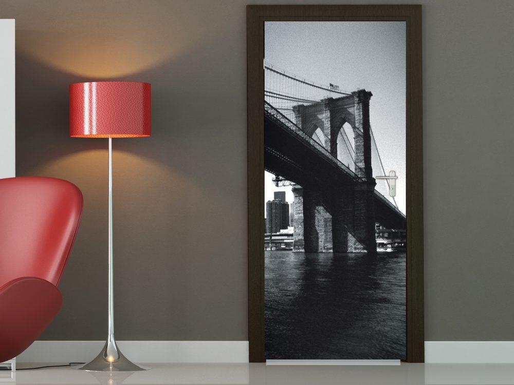 1Wall fototapeta Brooklynský most a NY 95x210 cm