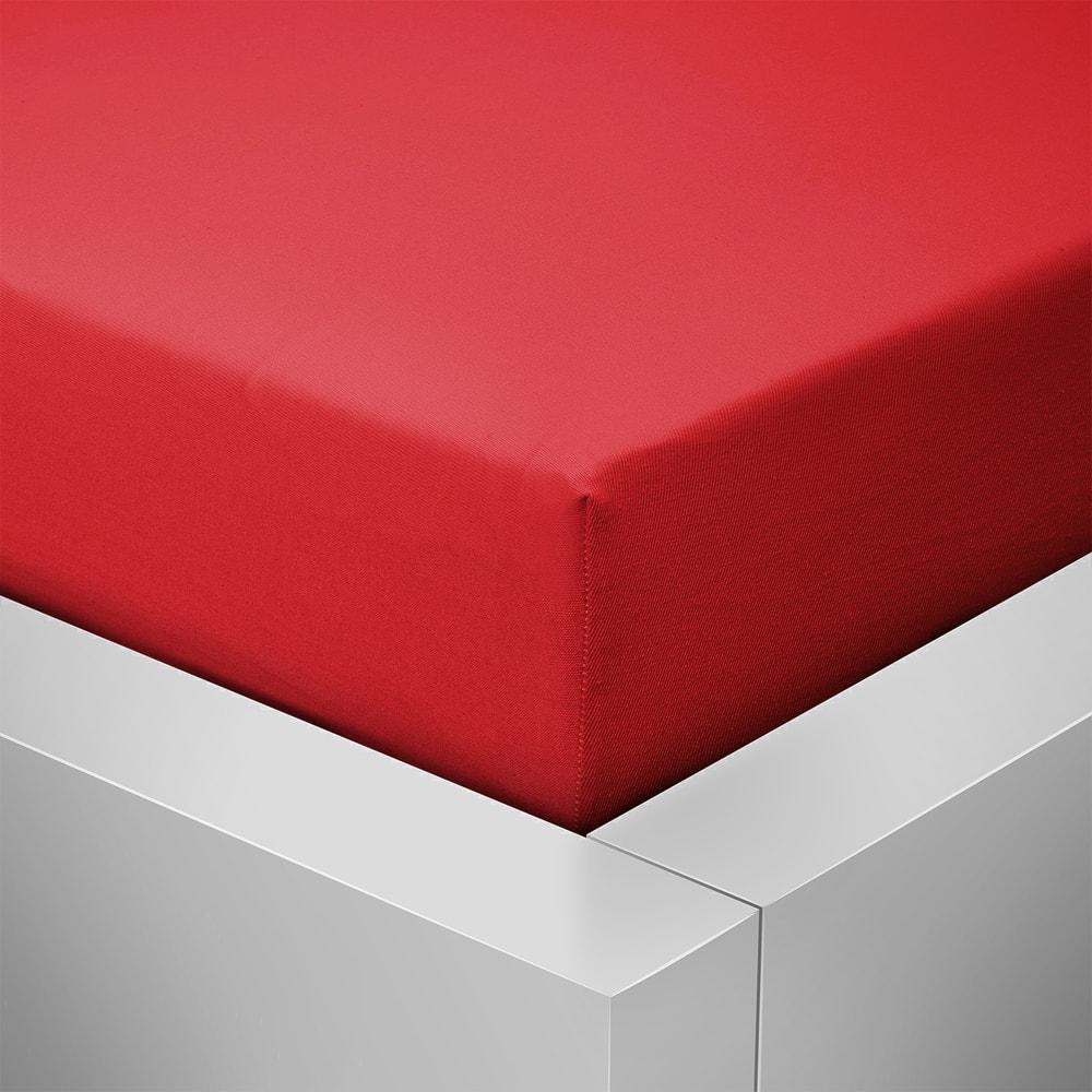 Homeville jersey prostěradlo české výroby červená 30cm výška - 180x200 cm