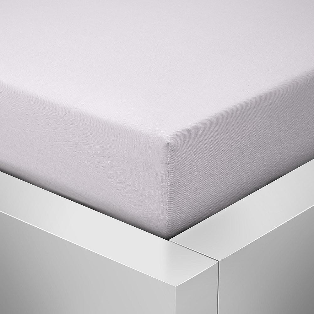 Homeville jersey prostěradlo české výroby bílá 30cm výška - 180x200 cm