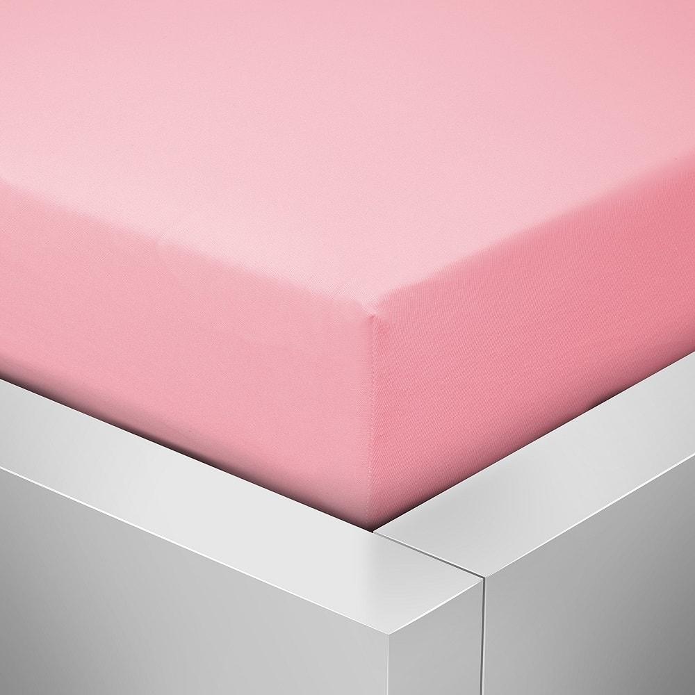 Homeville jersey prostěradlo české výroby růžová 30cm výška - 180x200 cm