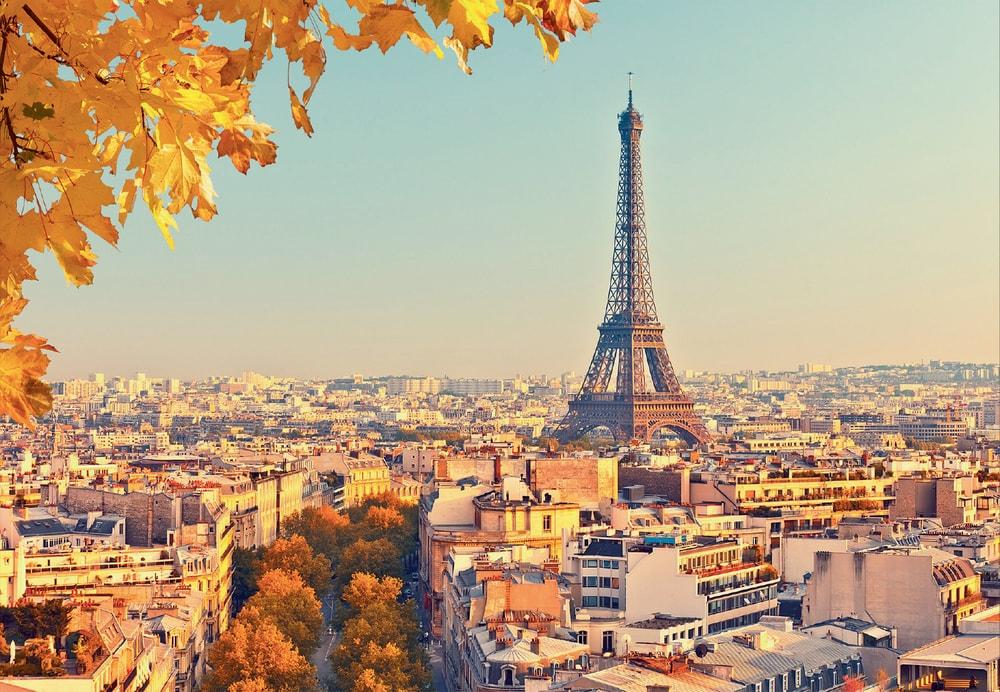 1Wall Vliesová fototapeta Jesenný Paríž 366x253 cm