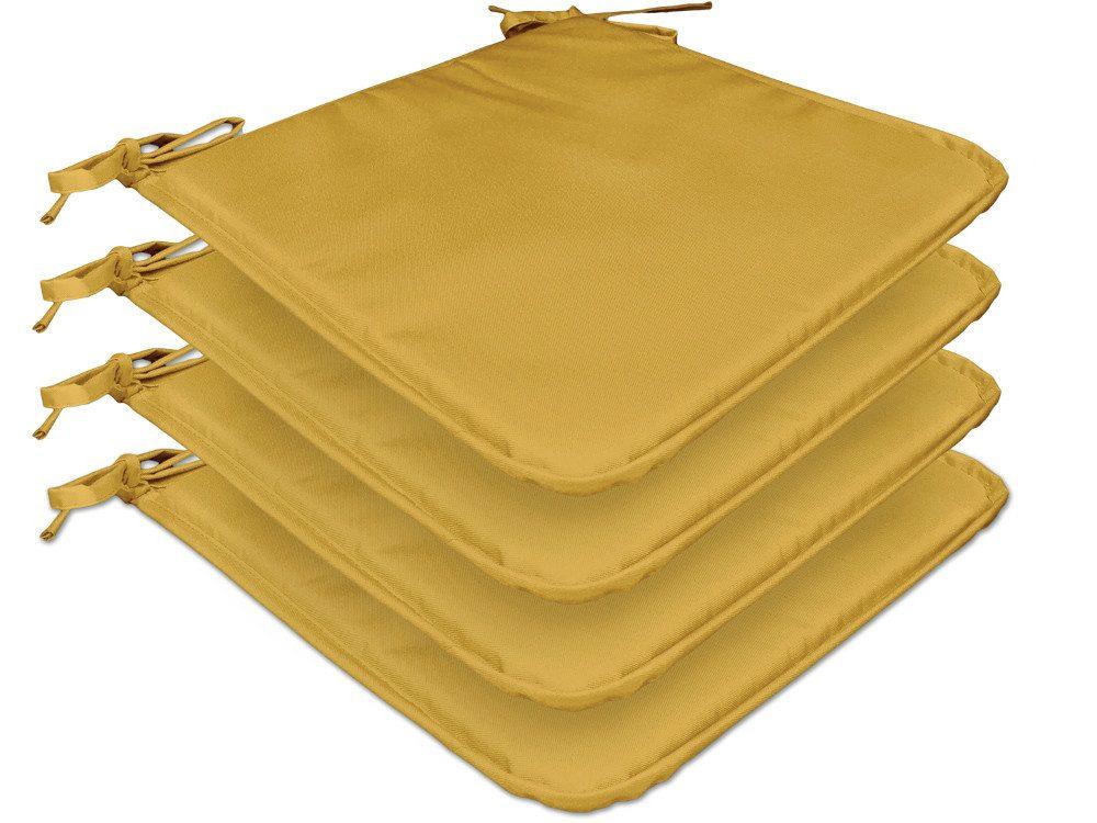 TODAY GARDEN SPIRIT sada 4 sedákov na stoličky 38x38x1,5 cm Ocre