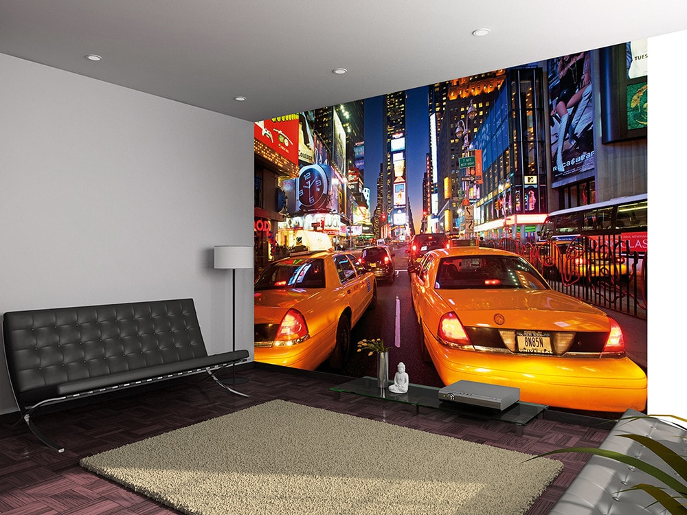 1Wall fototapeta New York Times square s taxíkmi 360x253 cm