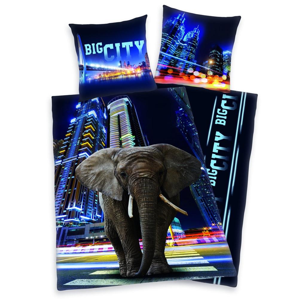 Herding obliečky Big City Elephant 140x200, 70x90