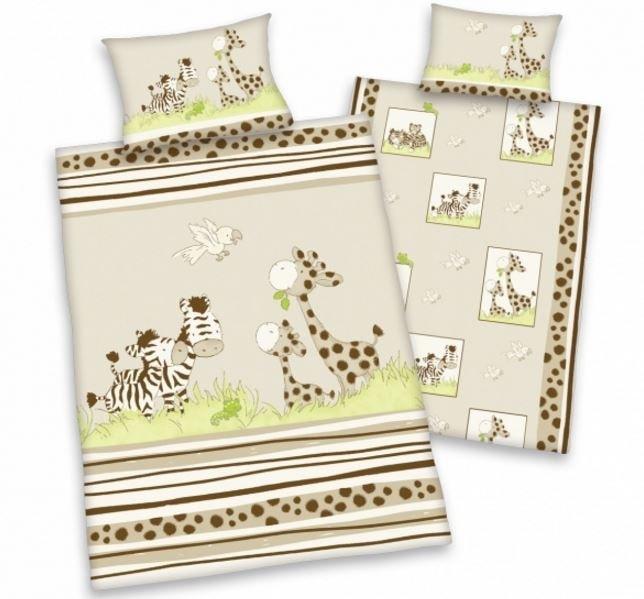 Herding obliečky pre bábätká zebra&žirafa 135x100,40x60