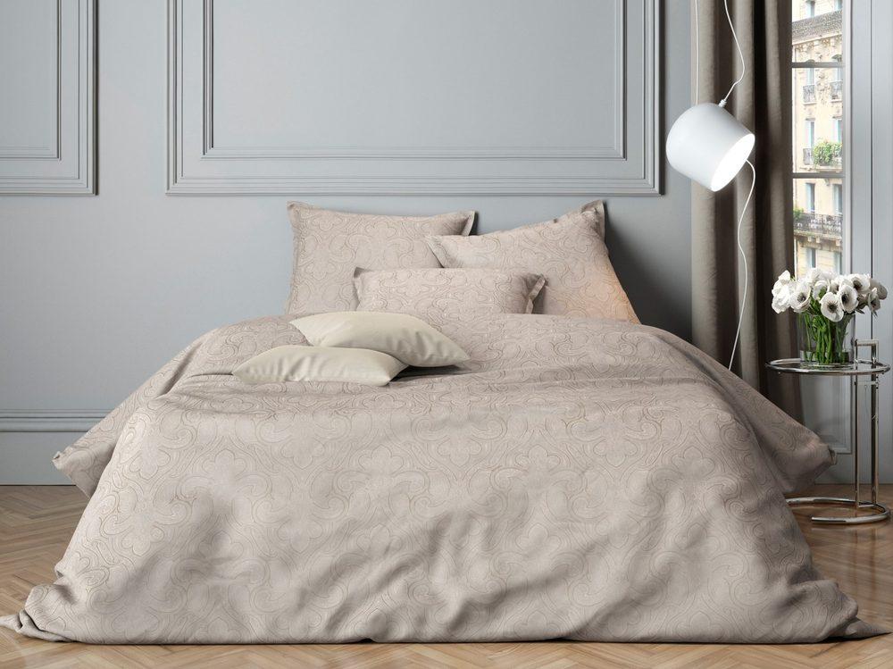 Mistral Home povlečení bavlněný satén Paisley Chateu grey - 140x220 / 70x90 cm