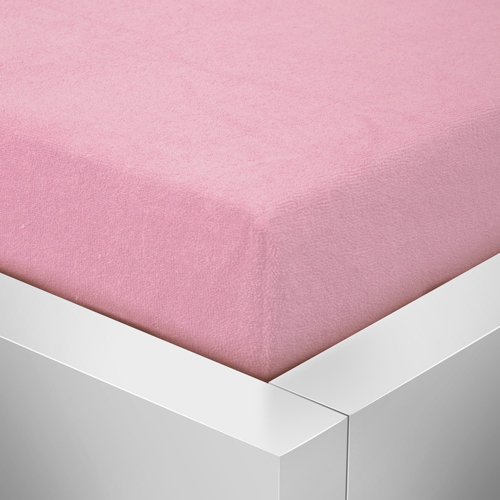 Homeville froté prostěradlo české výroby růžová 30cm výška - 180x200 cm