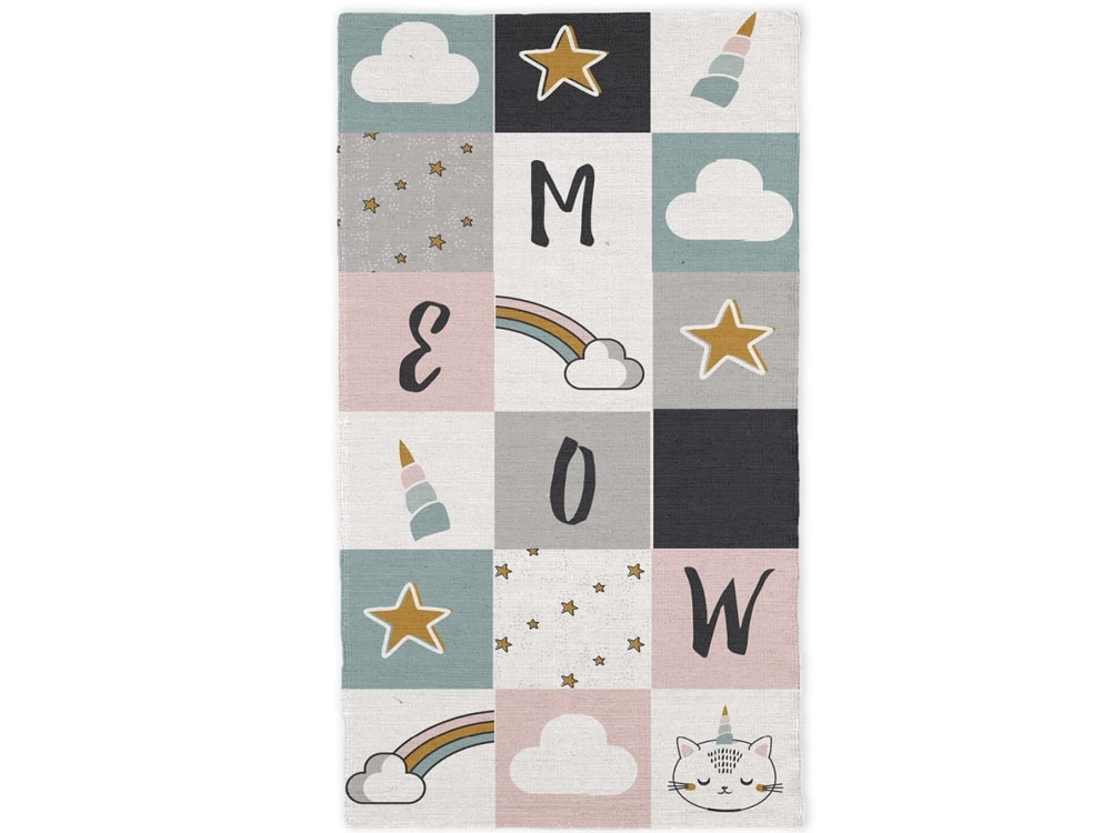 TODAY KIDS bavlněný koberec Meow 60x120 cm