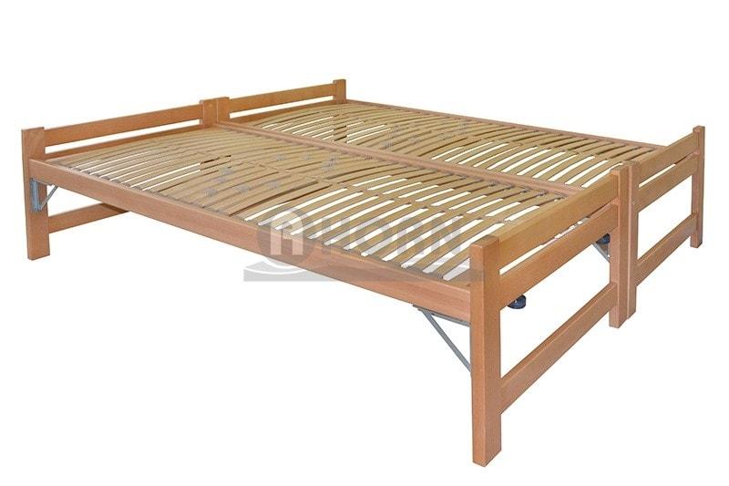 Ahorn Buková rozkládací postel DUELO 90/180x200 cm