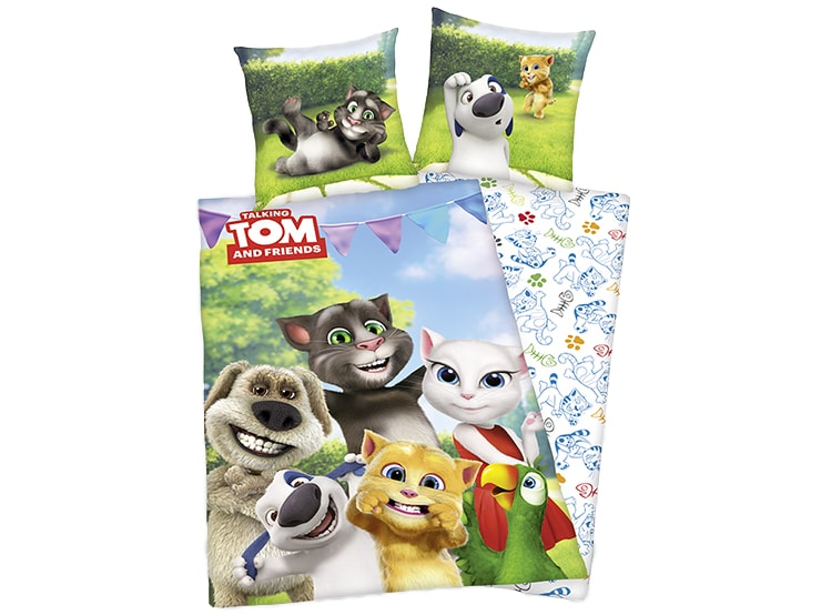 Herding obliečky Talking Tom 140x200,70x90