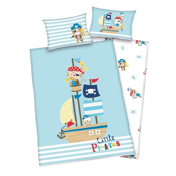 Herding obliečky pre bábätkáa Malí piráti 135x100,40x60