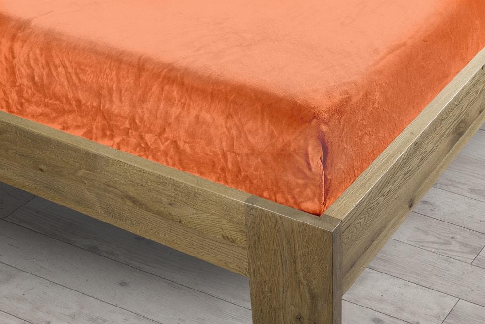Homeville prostěradlo mikroplyš 180x200 cm oranžová