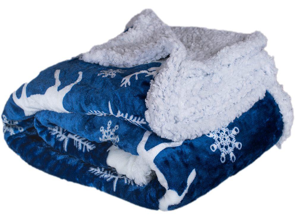 Homeville deka mikroplyš s baránkom 150x200 cm Modrý jeleň