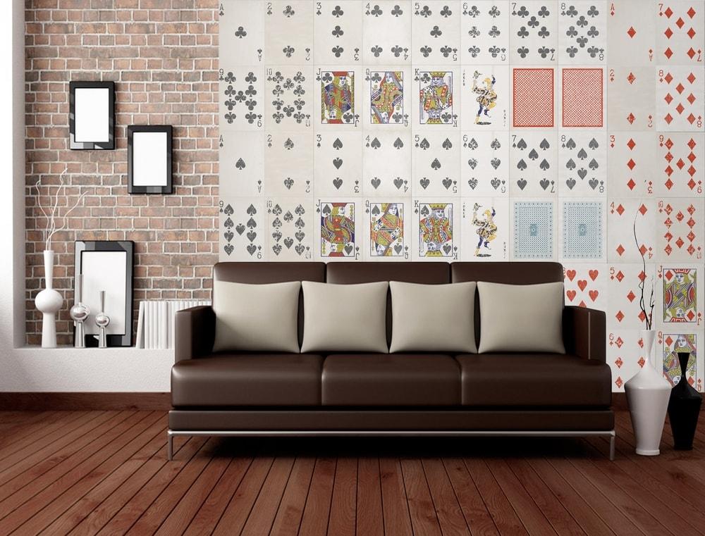 1Wall Kreatívna koláž 64 dielov 37,5 x 27,5cm Hracie karty
