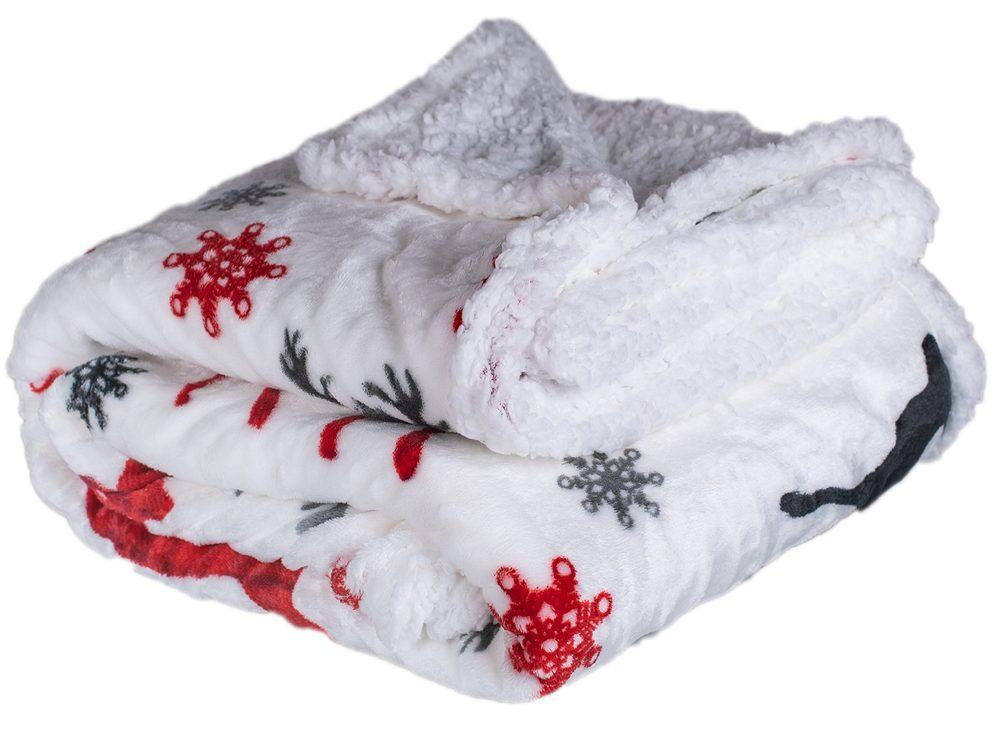 Homeville deka mikroplyš s baránkom 150x200 cm Červený jeleň