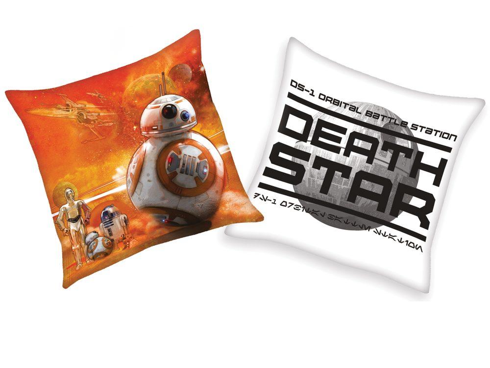 Herding vankúšik Star wars-Hviezdne vojny 40x40 cm - Bílá-Hvězda smrti